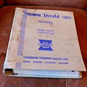 Triumph Herald 13/60 Models Spare Parts Catalogue