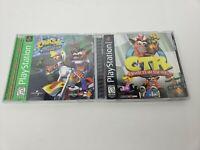 Crash BUNDLE 2 GAMES [Crash Team Racing & Crash Bandicoot: Warped] (PS1)