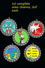 dr seuss party theme wine charms markers 10 party favors