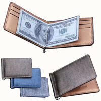 1Pc Women Dollar Money Clip Luxury Business Leather Wallet Credit Card Holder