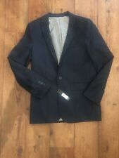 BNWT Autograph M&S Suit Jacket Pinstripe Blue Lined 14 Years