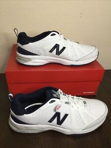 New Balance Men's 624v5 Cross Trainer, Sneakers White Navy Wide Size 14.5 EU 50