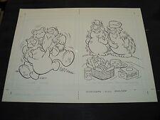 Snugglebumm Coloring Book Original Artwork RARE! Stan Goldberg! ART#0570