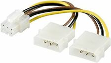 Goobay Internal PC cable 0.15m 2x 5.25 plug to PCI Express-6 pin (51360)