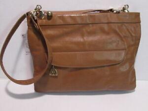 Vintage 1970's Shoulder Handbag-ROSENFIELD all leather inside & out-2 zipper