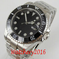 40mm Black Sterile Dial Sapphire Glass Date NH35 Automatic movement Men's Watch