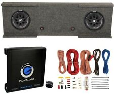 Kicker 12-Inch 1000W Subwoofers (2) + GMC Dual Sub Box + 1500W Amplifier + Kit