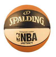 Spalding NBA Instinct Composite 29.5 Basketball Orange/Black/Cream 29.5 (74-884)