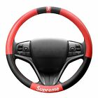 Finex Supreme Steering Wheel Cover Label For Universal Auto Car Accessories Red
