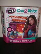 NEW Cra-Z-Art Shimmer 'n Sparkle Cra-Z-Knitz Trendy Scarf Knit Kit; Free Ship