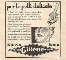 W2983 Lama Gillette per le pelli delicate - Pubblicità del 1932 - Old advert