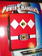 "NEW Mighty Morphin Power Rangers Red Ranger Fleece Throw Blanket 45""x60"" Retro"