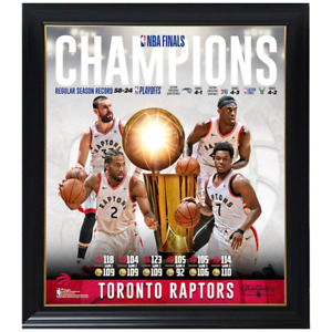 Toronto Raptors 2019 NBA Finals Champions Team Collage Official NBA Print Framed