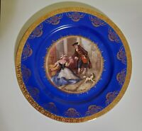 "Hutschenreuther Bavaria Blue & Gold Trim 10.25 CABINET PLATE ""Cries of London"""