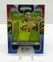 2018 Panini Prizm World Cup Soccer Red Blue Wave James Rodriguez Colombia #38