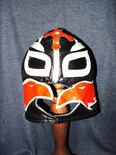 Rare Rey Mysterio WWE Wrestling Small Red Black White Lycra Costume Mask VGUC