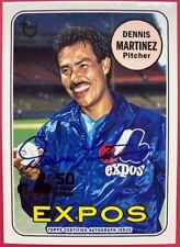 2019 Topps Archives Dennis Martinez Autograph 50th Anniversary Card # MTLA-DM