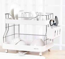 Naturnic Scolapiatti Set, 2 piani Dish Drainer di alta qualità in acciaio inox 204+ABS