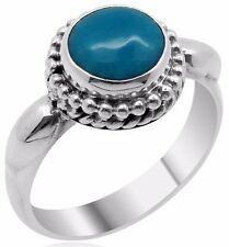 Arizona Sleeping Beauty Turquoise Ring in Sterling Silver Size 7