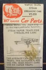 CAL-SCALE-#VT-358 -VAPOR TRAPS STEAM STREAMLINE CARS-2 PCS-OLD STOCK/ NIP