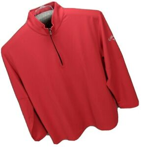 Calloway Weather Series Men's Pullover 1/4 Zipper Long Sleeves 2X Red