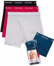 NWT Calvin Klein. Sz M. Men's 4 Pack, Boxer, Multi-Color  Solid, MSRP $42.50.