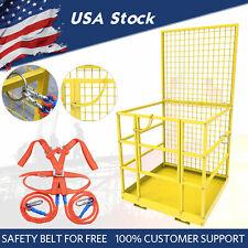 45x43inch Forklift Safety Down Lift Cage Aerial Rails Work Platform Construction