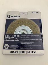 "Wire Wheel Brush 6"" Kobalt #323647 5/8 Bore with 1/2 in. blushing Coarse"