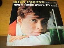 RITA PAVONE NON è FACILE AVERE 18 ANNI  LP
