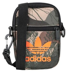 ADIDAS 'Camo Festival Bag' Unisex Nylon Crossbody Phone Bag / Case Green **NWT**