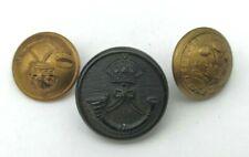 Lot de 3 boutons britanniques Light Infantry et 3rd Dragoon Guards