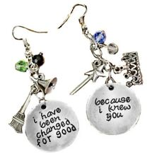 Charms Dangle French Wire Earrings Broadway's Wicked The Musical Silvertone