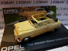 voiture 1/43 IXO eagle moss OPEL collec : Olympia rekord cabrio 1954/1956