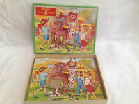 VINTAGE JIGSAW PUZZLE HIGH SPOT WOODEN CIRCUS 1960s 1970s RETRO
