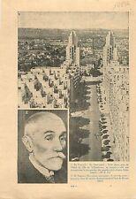 HLM Building Gratte-Ciel Villeurbanne Banlieue  Lyon/Fulgence 1936 ILLUSTRATION