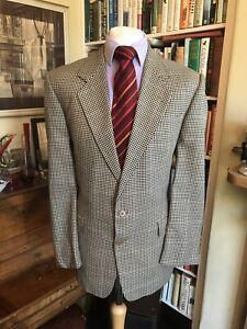 Gieves & Hawkes Silk Blend Bespoke Houndstooth Jacket