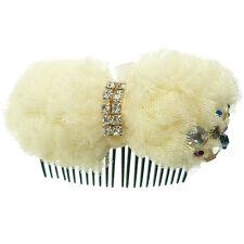 Peigne à cheveux  mariage cérémonie cristal blanc tulle crème étoile strass