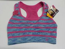 Womens Size S Lily Of France Pink/Blue Stripe Reversible Sports Bra New #4183