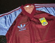 Vintage adidas 1980s West Ham United Football Shirt - Small Mens