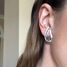 Vintage Antique 70s Sarah Cov Sarah Coventry Silver Clip Earrings Estate