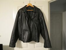 Nice Women's Real Leather Motorcycle Biker Jacket, Size 5XL,Superb Condition