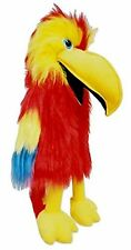 """Puppet red parrot 20"""" Ventriloquist,Play.Education with a moving mouth&squark"""