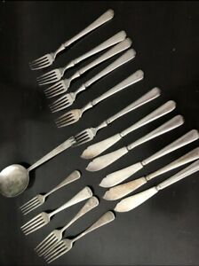 Vintage silver plate EPNS lot of 16 mixed