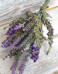 artplants Textil Lavendelstrauß KIRSA, violett, 30cm, Ø15cm - Kunst Blumenstrauß