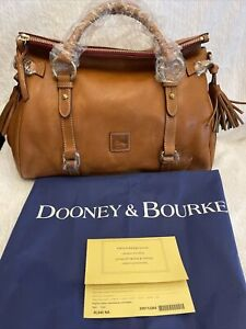 NEW Dooney & Bourke Florentine Leather Small Satchel, Natural Color, 8L980 NA