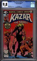 Ka-Zar The Savage 1 CGC Graded 9.8 NM/MT White Pages Marvel Comics 1981