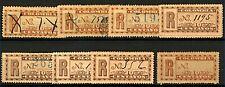 Colombia 1899 10c Registration Issues sgR199 (8v) VFU Stamp