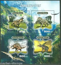 GUINEA BISSAU 2014 FAUNA DINOSAURS SHEET OF FOUR STAMPS