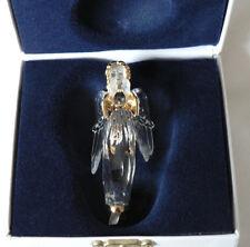 New Swarovski Silver Crystal Christmas Memories Retired Hanging Angel 2000 Mint