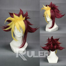 Short YU-GI-OH! ZEXAL/IV Red and Yellow Mixed Anime Cosplay Wig COS-304A
